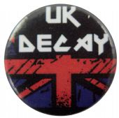 UK Decay - 'Logo / Flag' Button Badge